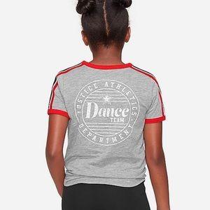 NWT Justice Girls Sz 8 Tie Dye Dance Yoga Shorts /& Raglan Tee Shirt Top 2-PC SET
